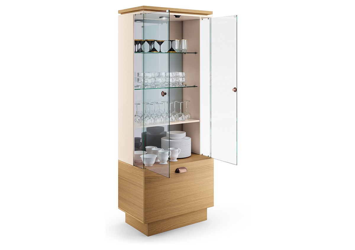 Portas de vidro com sistema de fecho magnético